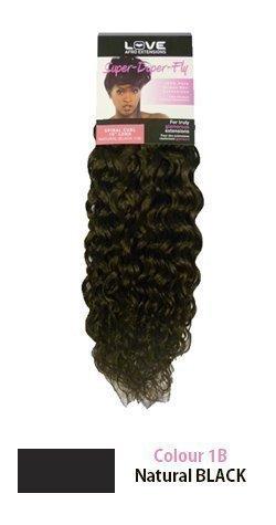 22,9cm spirale Extensions capillaires 100% cheveux humains (tissage) couleur 1B Noir naturel