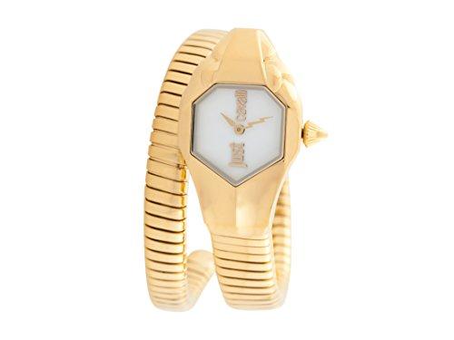 Just Cavalli Damen Analog-Digital Quarz Uhr mit Edelstahl Armband JC1L001M0025