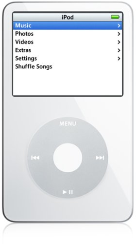 Apple iPod - 30GB - White [video playback] MA002FB/A