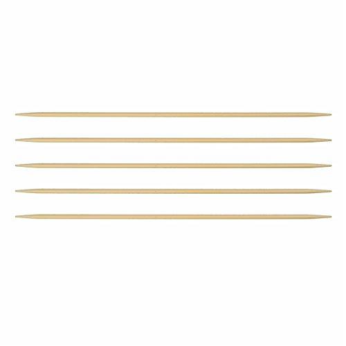 Strumpfnadel Bambus Länge 15 cm Stärke 2,5 mm Nadelspiel Strumpfstricknadeln Marke: LaLuna -