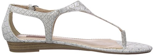 s.Oliver  28203, Tongs pour femme Argent - Silber (Silver Snake 911)