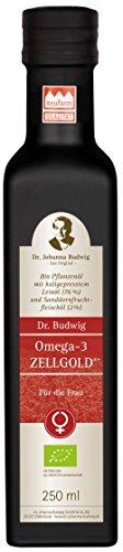 Dr. Budwig Omega-3 Zellgold - Für die Frau - Das Original - Natürliche Schönheitspflege von innen: mit einer wertvollen Mischung aus Nachtkerzen- und Sanddornfruchtfleischöl, 250 ml