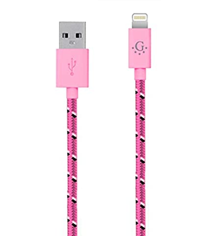 Best Seller in USA Nylon Braided Go Beyond (TM) 8 pin iPhone 5 / iPhone 6 Cable. High Quality and Durable, HIPPED IN SAME BUSINESS DAY. Compatible with new Ios (6 Ft, Pink)