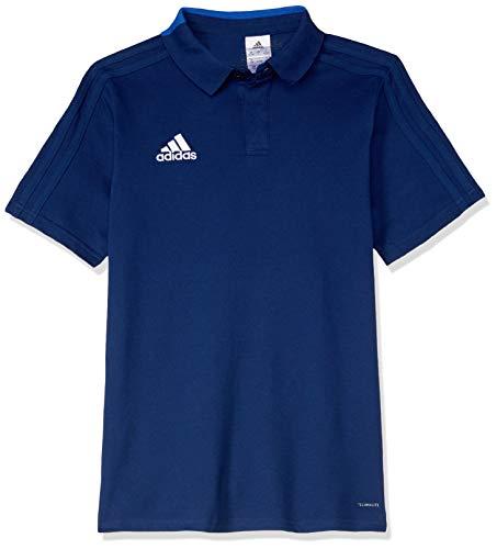 adidas Kinder CON18 CO Y Polo Shirt, Dark Blue/White, 11-12Y - Adidas Polo-shirt Gestickte