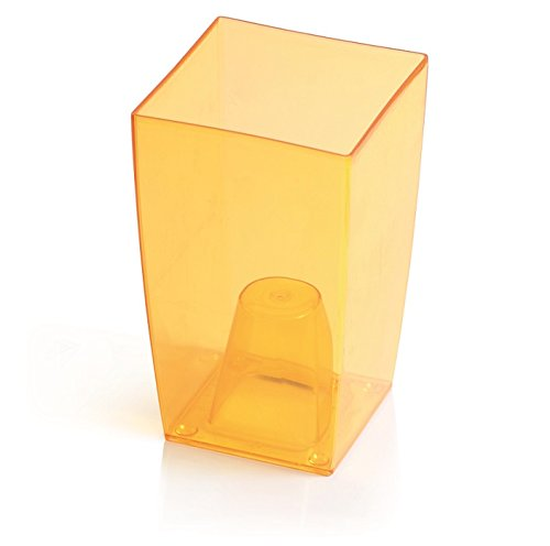 Transparent Coubi Tower Vase, transparent, plastik, Transparent Orange, 12x12x20 cm