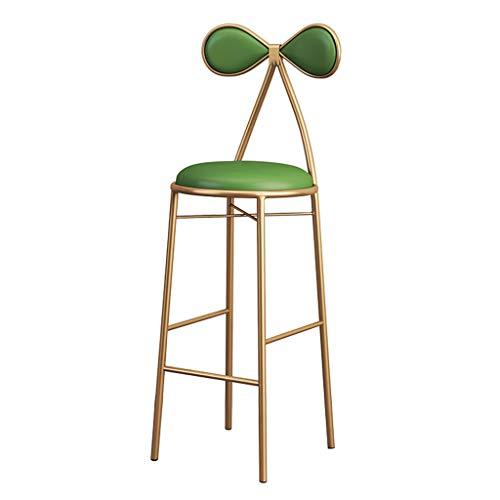 ker Stuhl mit Bowknot-Rücken für Küche/Bar Hohe Hocker Gold Metall Beine - 65 / 75cm Kneipenhöhe - Moderne Freizeit Esszimmerstühle Vanity Hocker ()