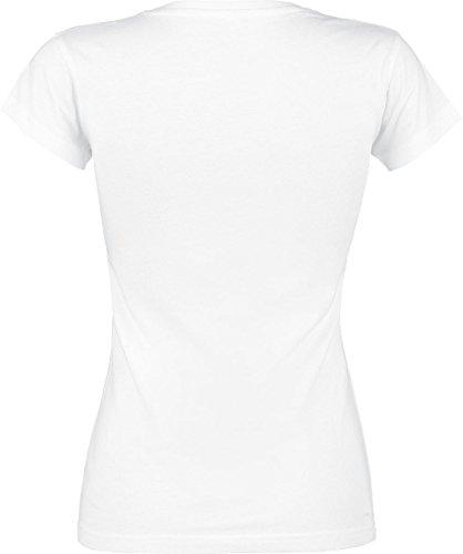 Full Volume by EMP Hibiscus Colibri Girl-Shirt weiß Weiß