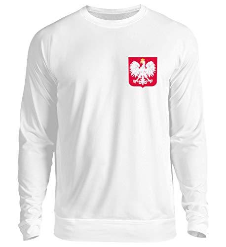 Polen Trikot Emblem Wappen Polnische Flagge Polska Adler Fahne Geschenk - Unisex Pullover (Adler Pullover)