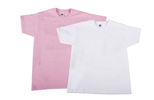 Fruit of the Loom Jungen T-Shirt Valueweight T Kids, 2er Pack, Mehrfarbig (Multicoloured 119), 128 (Herstellergröße: 8Y)