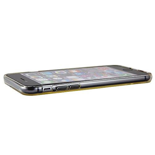 NessKa® iPhone 6 / 6S Handyhülle Silikon Hülle Schutzhülle TPU Crystal Case Bumper Back Cover Transparent / Schwarz Transparent / Schwarz