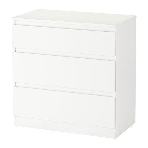 IKEA Kullen Kommode mit 3 Schubladen; in weiß; (70x72cm)