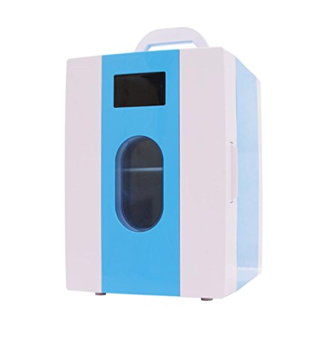 XW 10L Auto Heim Studenten Schlafsaal Mini Kühlschrank , Blue,blue
