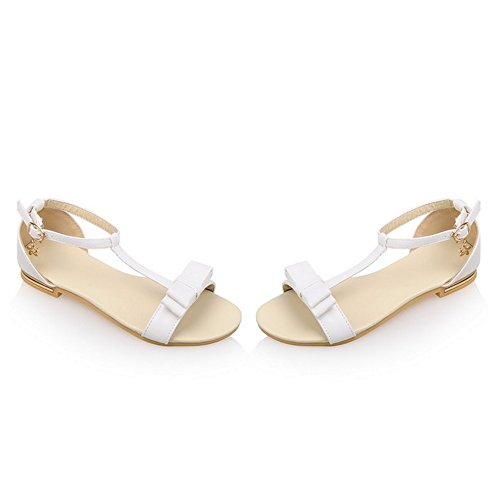 COOLCEPT Damen Mode-Event T-strap Sandalen Open Toe Bohemia Shoes fur Maedchen White