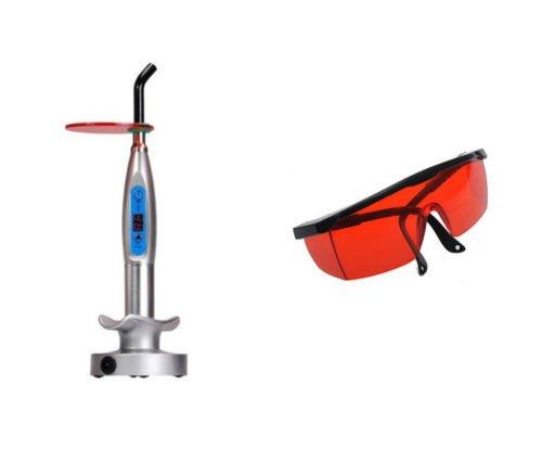 Dental 5W kabellos LED Lichthärtungsgerät 1500mW und Schutz Goggle Glas (Software Dental)