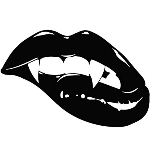 Autoaufkleber 18X11,8 CM Mode Scharfe Monster Mund Kuss Vampir Lippen ZÄHNE Vinyl Aufkleber Auto Aufkleber 2 Stück