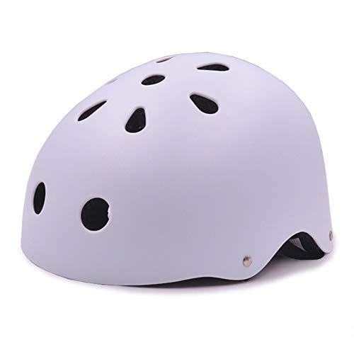 Sanqing Kinder Fahrradhelm, Kleinkind-Helm Multi-Sport Fahrradhelm CPSC-Zertifiziert Schlagfestigkeit Belüftung Einstellbarer Helm,White,L