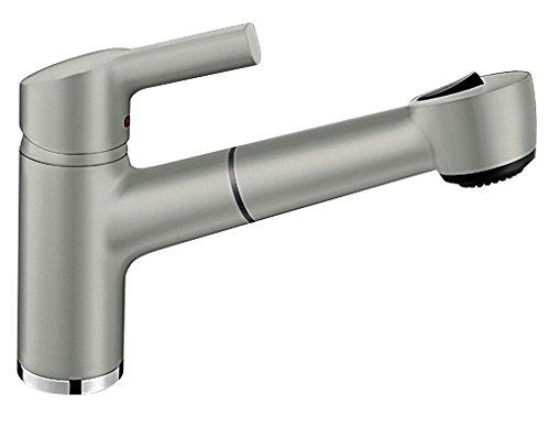Blanco Elipso-S II Küchenarmatur -  Einhebelmischer, mit ausziehbarer Brause, HOCHDRUCK-Wasserhahn...