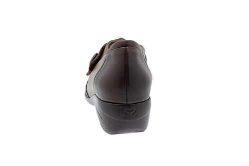Komfort Damenlederschuh Piesanto 3984 schuhe casual bequem breit Caoba