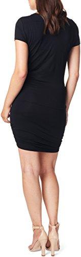 Noppies Damen Umstandskleid Dress Ss Emmy Schwarz (Black C270)
