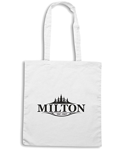 T-Shirtshock - Borsa Shopping TM0047 City of Milton citta Bianco