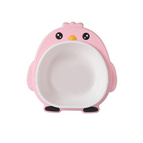 YeahiBaby Baby Waschschüsseln Kunststoff Waschbecken Pinguin Form für Kleinkinder (Rosa)