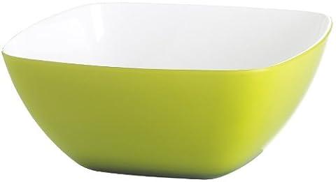 Emsa 506681 Eckiges Schälchen für Salat, Kunststoff, 0.6 Liter, 13.5 x 13.5 x 7 cm, Hellgrün, Vienna