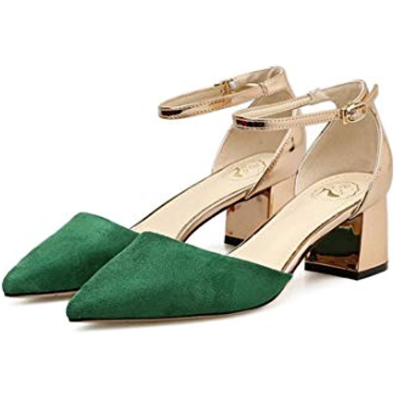 s pour Cheville, Femmes élégantes, Bride à la Cheville, pour Chaussures à Talons épais, Style Allumette, Bout Pointu,... - B07KKP53Z7 - f34d92