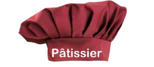 Maglietta Town sguattero Pâtissier euroform il pasticcere Sevice in cucina con cappello cuocere, grande cucina cuoco didattico Ling stelle in 8 colori ideale per la ristorazione, Cotone, rosso, taglia unica