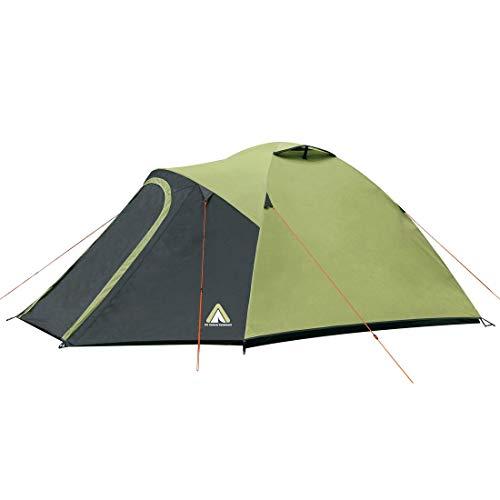 10T Zelt Sevilla 3 Mann Kuppelzelt wasserdichtes Campingzelt 5000mm Igluzelt mit Wohnraum in Grün