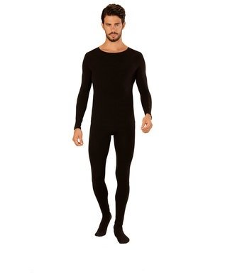 Schwarzer Ganzkörper-Body für Männer S/M