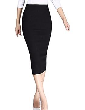 Hendidura Elastica Mujer Bodycon MIDI Para Trabajar De Usar Faldas Lapiz