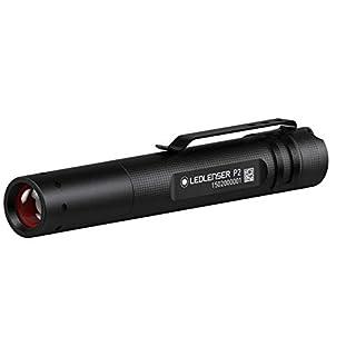 Ledlenser P2 Professional LED Key-Ring Torch 25m Beam range and 7hr runtime (Black) - Test-It Pack, 8402TP