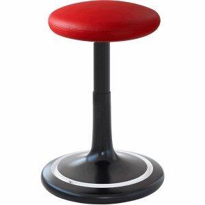 Ongo Sitz- und Stehhocker Classic regular 42-64cm Leder schwarz/rot/weiß
