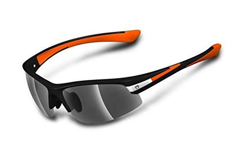 Briko Darwin Sonnenbrille Radfahren Unisex, Schwarz/Orange