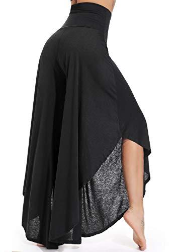 FITTOO Pantalones De Yoga Sueltos Cintura Alta Mujer Pantalones Largos Deportivos Suaves y Cómodos 740,Negro,XL