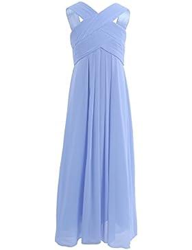 Freebily schönes Kleid Mädchen festlich lang Partykleid Abendkleid Hochzeit Blumenmädchen Kleider Brautjungferkleid...