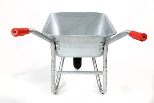 Schubkarre 200Kg für Garten, Bau und Stall mit Stahlfelge, Vollverzinkt, Pulverbeschichtet - 6
