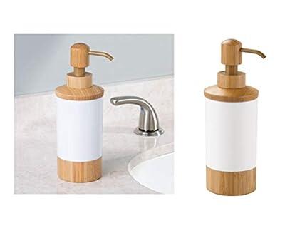 InterDesign Formbu Seifenspender | Badaccessoire im natürlichen Look | auch als Lotionspender geeignet | Bambus/Kunststoff