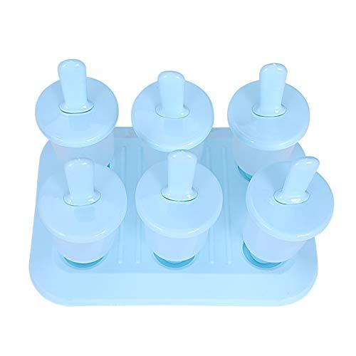 TOOGOO EIS Am Stiel Formen, Bpa-Freie Plastik DIY Eiscreme-Formen, Satz Von 6 Wiederverwendbare Mini Eismaschinen Für Joghurt-Snacks-Desserts (Klein, Blau)