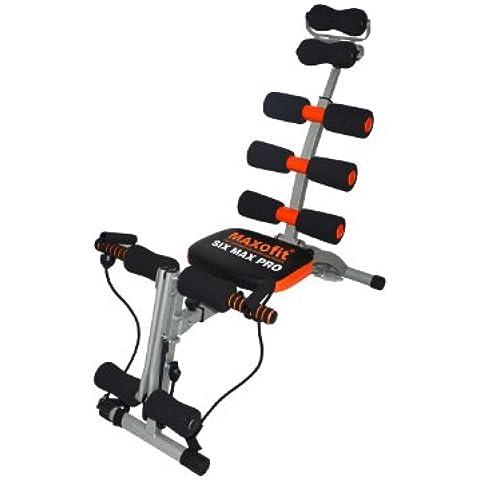 MAXOfit Heimtrainer Multitrainer Sixmax MF-6 für Bauch, Beine und Po - Máquina de step para fitness ( fitness, plegable