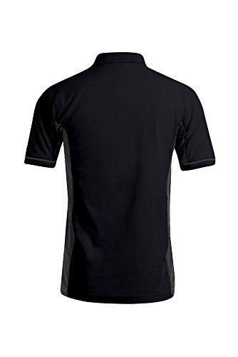 Funktionsshirt Kontrast Poloshirt Herren Schwarz-Dunkelgrau