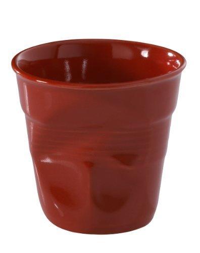 Revol Froisses 619088 Espresso Crumple Tumbler, Pepper Red by Revol USA