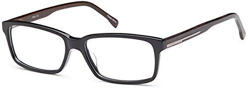 DALIX Mens Prescription Eyeglasses Frames 59-36-150-17 RXable in Black GLS-B16325