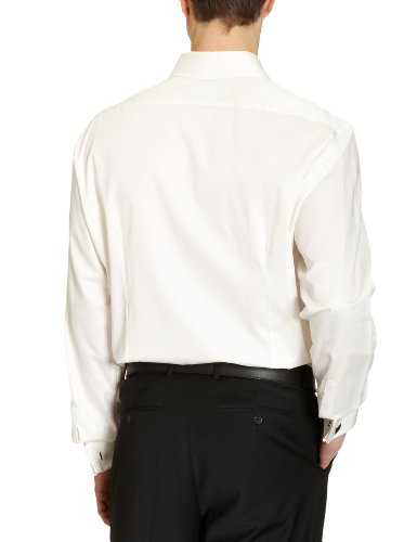 Jacques Britt Herren Businesshemd Regular Fit 20.969315 Ben Uma EL Elfenbein (02 - creme)