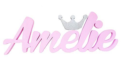 Niña Nombre con una corona de plata puerta placas
