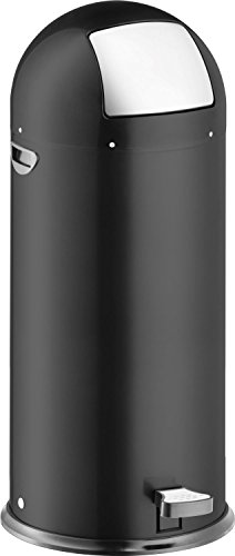 "Helit H2405495 - Push-Tretabfallbehälter \""the step dome\"" 52L, schwarz"