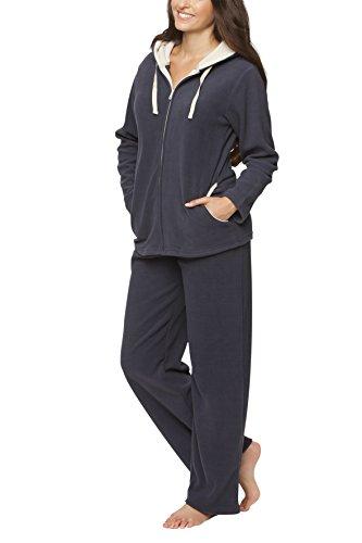Ensemble polaire tenue d'intérieur tenue décontractée pour femme - SLOUCHER, Color:gris-bleu, Größe:40/42