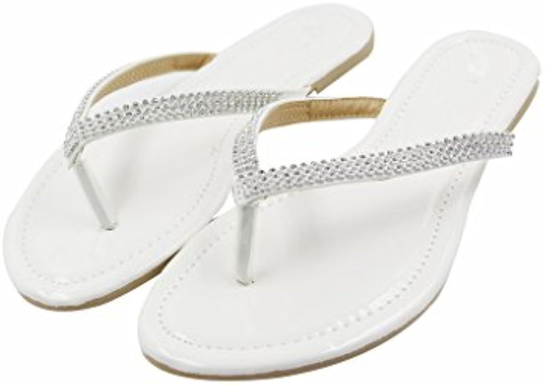 HANERDUN  Damen Zehentrenner weiß - weiß - Größe: 40