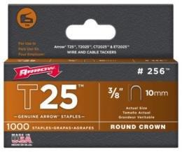 Arrow 160644 T25 Pack de 5000 Cavaliers 14 mm pour câble ø 6 mm