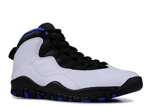 Nike Herren Air Jordan 10 Retro Fitnessschuhe, Mehrfarbig (White/Black/Royal Blue/Metallic Silver 108), 44.5 EU (Air Jordan 10)
